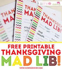 free thanksgiving printables for mad lib style everyone
