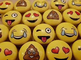 emoji emoticon character kids adults hand painted door