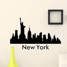 Wall Art Stickers And Decals by Big Apple New York City Skyline City Silhouette Vinyl Wall Art