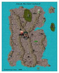 Continents On Map Aardwolf Mud Game Virtual World Overview