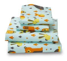 Highest Thread Count Sheet Woodland Creatures Ultra Microfiber Bed Sheet Set Amadora