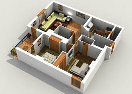 3d home designing dollhouse view to visualize floor plan and