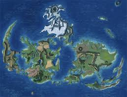Labeled World Map by Final Fantasy Vii World Map