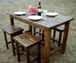 Unfinished Bistro Table Outdoor Pub Table 5 Best Dining Room Furniture Sets Tables And