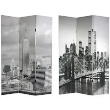 room divider furniture amazon com oriental furniture 6 ft tall double sided new york