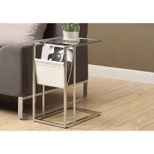 monarch specialties accent table monarch specialties chrome magazine end table i 3034 the home depot