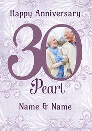 30th wedding pearl anniversary cards funky pigeon