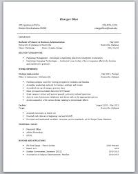 What Is The Best Format For A Resume by College Student Resume Examples Little Experience Berathen Com