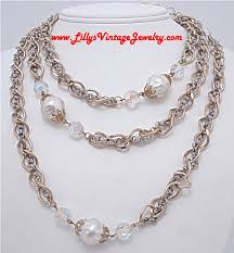 silver crystal vintage necklace images Lilly 39 s vintage jewelry necklaces JPG