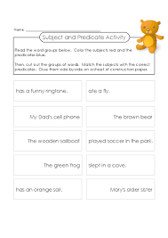 subject and predicate activity subject and predicate
