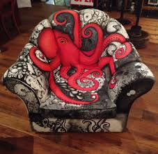 octopus decor octopus chair by wendy olsen of the red fox gallery in australia