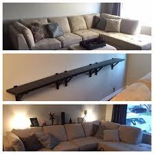 meuble derriere canapé tablette murale derrière le canapé en guise de console pinteres