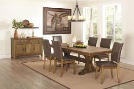 Leather Dining Room Furniture Appealing Emejing Leather Dining Room Set House Design Interior