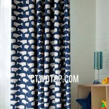 Fish Curtains Burlap Wildlife Blue White Curtains With Fish Patterns Acoustical