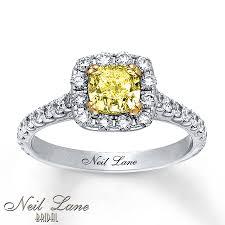 Jared Cushion Cut Engagement Rings Jared Neil Lane Diamond Ring 1 7 8 Ct Tw Yellow White 14k White Gold
