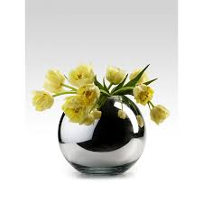 silver glass fishbowl