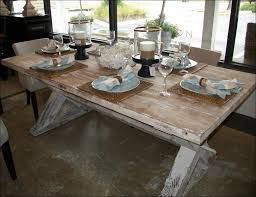 kitchen round dining room table with leaf distressed wood