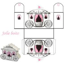free princess carriage template cartulinas