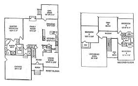 Floor Plans For 2 Story Homes by Jordan Woods All Home Plans