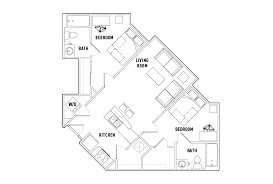 2 bed 2 bath floor plans floor plans the varsity student housing college park md