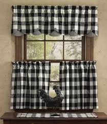 Checkered Curtains by Devon Scalloped Valance By Park Designs 72