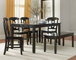 6 piece dining table and chairs gray 6 piece dining set with bench american freight