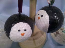 penguin golf ornaments 2 00 via etsy the most wonderful