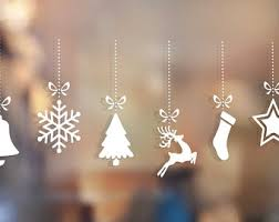 Christmas Window Decorations Stickers by Window Decoration Etsy