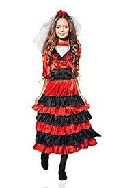 Gypsy Halloween Costume Kids Amazon Kids Girls Spanish Dancer Halloween Costume Gypsy