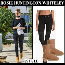 ugg boots sale los angeles ca rosie huntington whiteley in brown suede ugg boots in la december