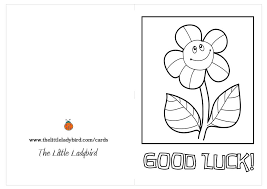 good luck cards coloring pages thelittleladybird