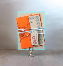 modern indian wedding invitations orange red u0026 aqua
