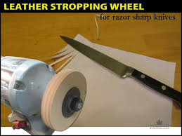 Sharpening Wheel For Bench Grinder Leather Stropping Wheel 5 Steps