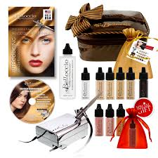 Professional Airbrush Makeup System Belloccio Airbrush Foundation Makeup System W 16 Colors Kit New Ebay