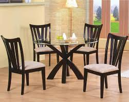 Black Glass Dining Table And 4 Chairs Black Glass Dining Room Table And Chairs Awesome Modern In Set