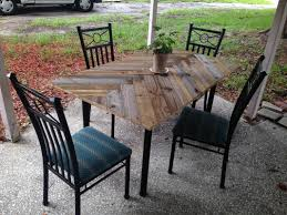 Craigslist Outdoor Patio Furniture by Old Glass Top Table To Wood Herringbone Before After Great For