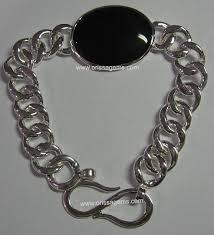 silver bracelet with black stones images Orissa gems semi precious beads precious stone jewelry JPG