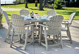 poly lumber 60 inch round garden classic table in dining counter