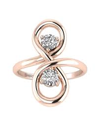 gold promise rings 0 30 carat real diamond gold promise ring infinity knot