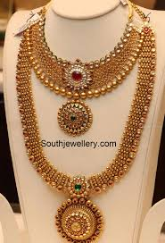 gold haram sets antique gold necklace and haram set jewellery designs