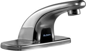 sloan ebf 615 4 bdm bathroom faucet optima plus battery powered