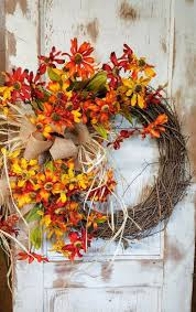Halloween Wreath Ideas Front Door Best 25 Fall Burlap Wreaths For Front Door Ideas On Pinterest