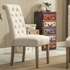 bungalow rose kenleigh solid wood button tufted side chair