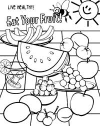 food and health coloring pages coloring page