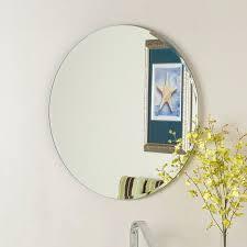 Decor Wonderland Mirrors Wall Mirrors Frameless Contemporary Bathroom Mirror With Shelf