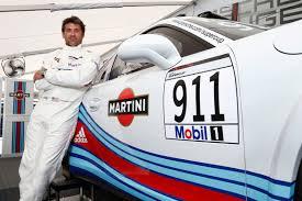 martini porsche patrick dempsey races martini car at porsche mobil 1 supercup