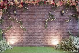 Backdrop 2017 10x6ft Vintage Brick Flower Wall Backdrop Wedding Light