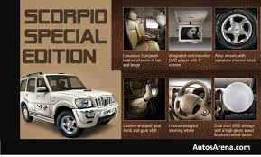 scorpio car new model 2013 mahindra launches scorpio special edition 500 units only