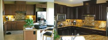 Painting Kitchen Cabinets White Before And After Pictures Fabulous Design Ideas Using Rectangular Brown Wooden Tables And