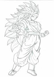 coloring download goku super saiyan 3 coloring pages dragon ball